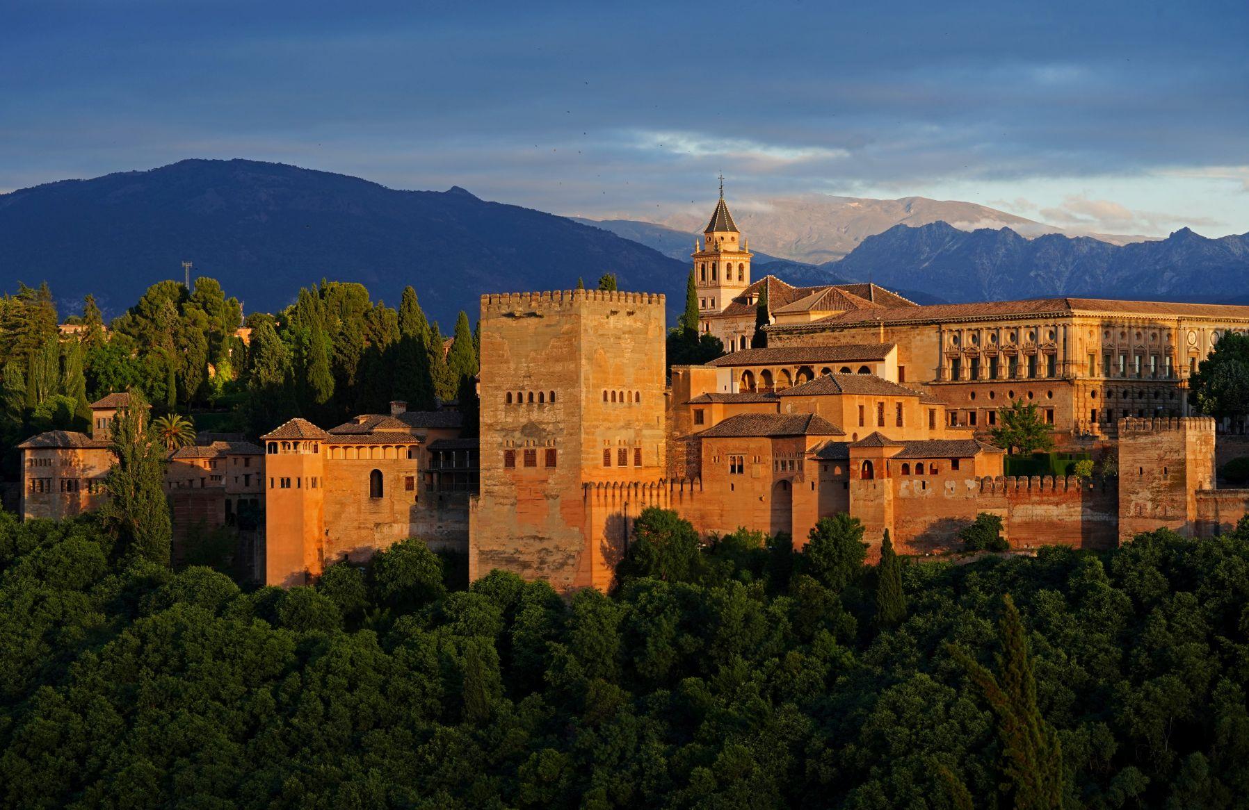 Alhambra Granada mit Sierra Nevada