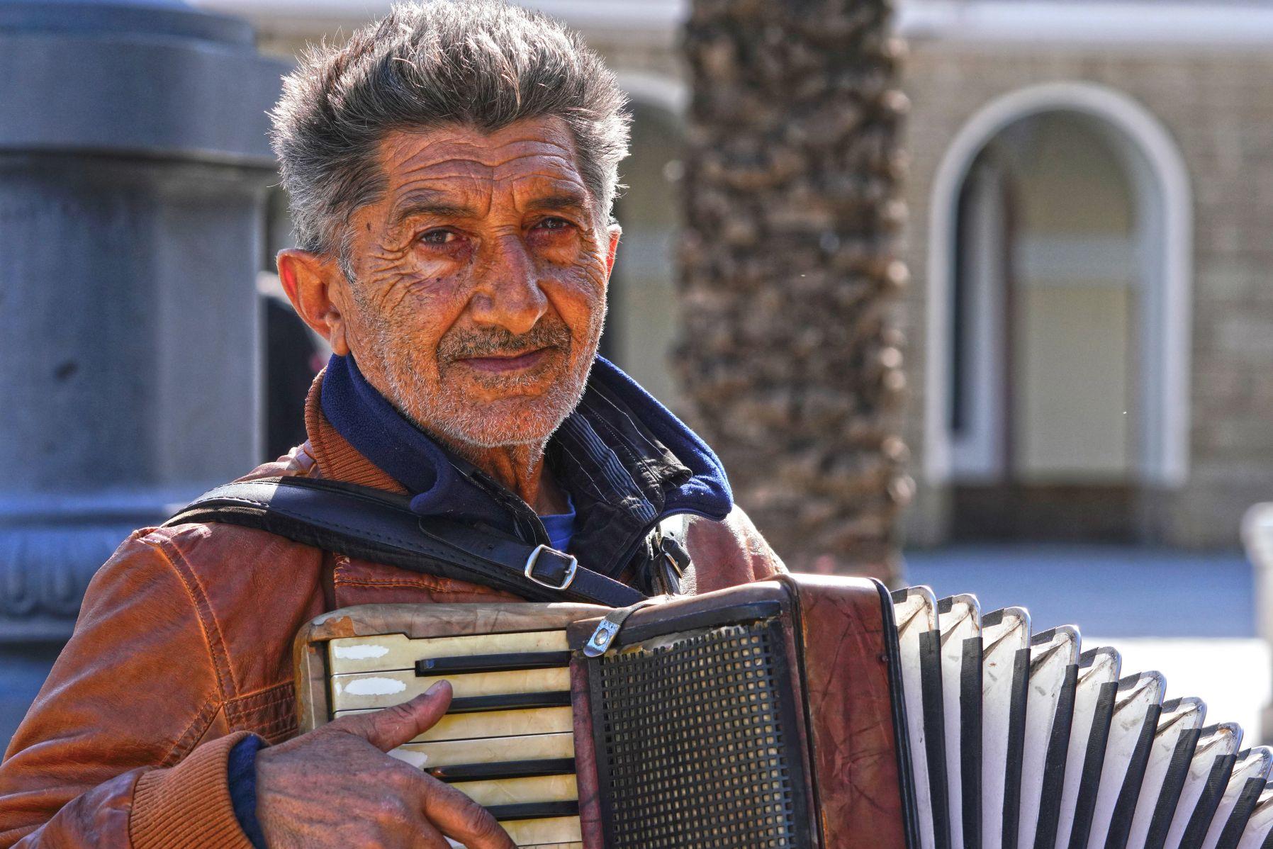 Straßenmusiker Potrait München